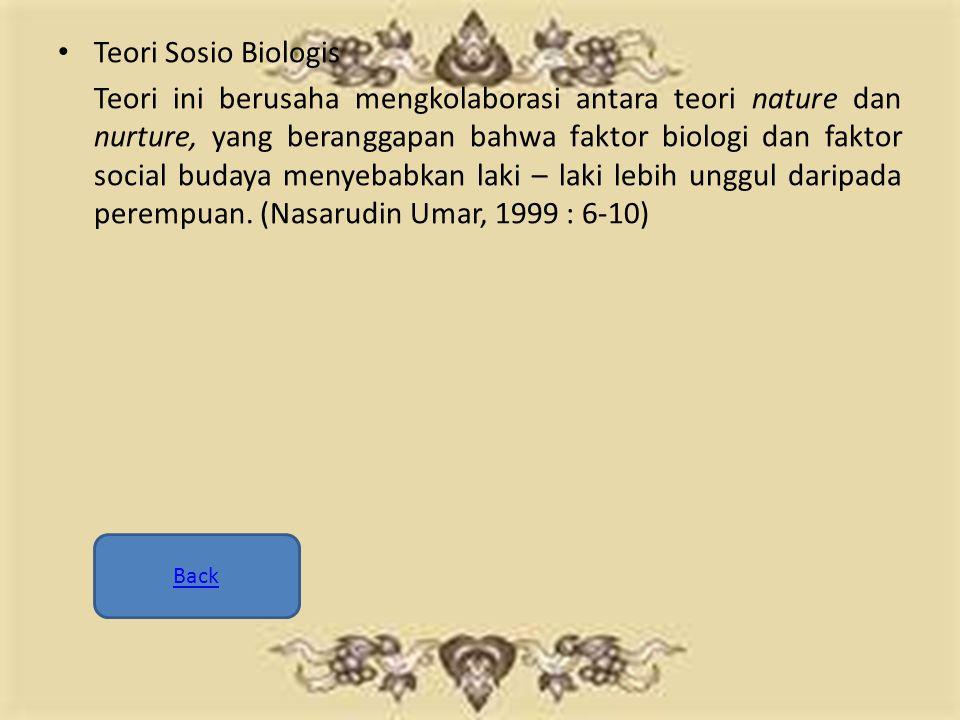 Teori Sosio Biologis