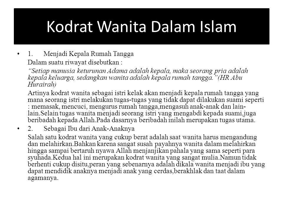 Kodrat Wanita Dalam Islam