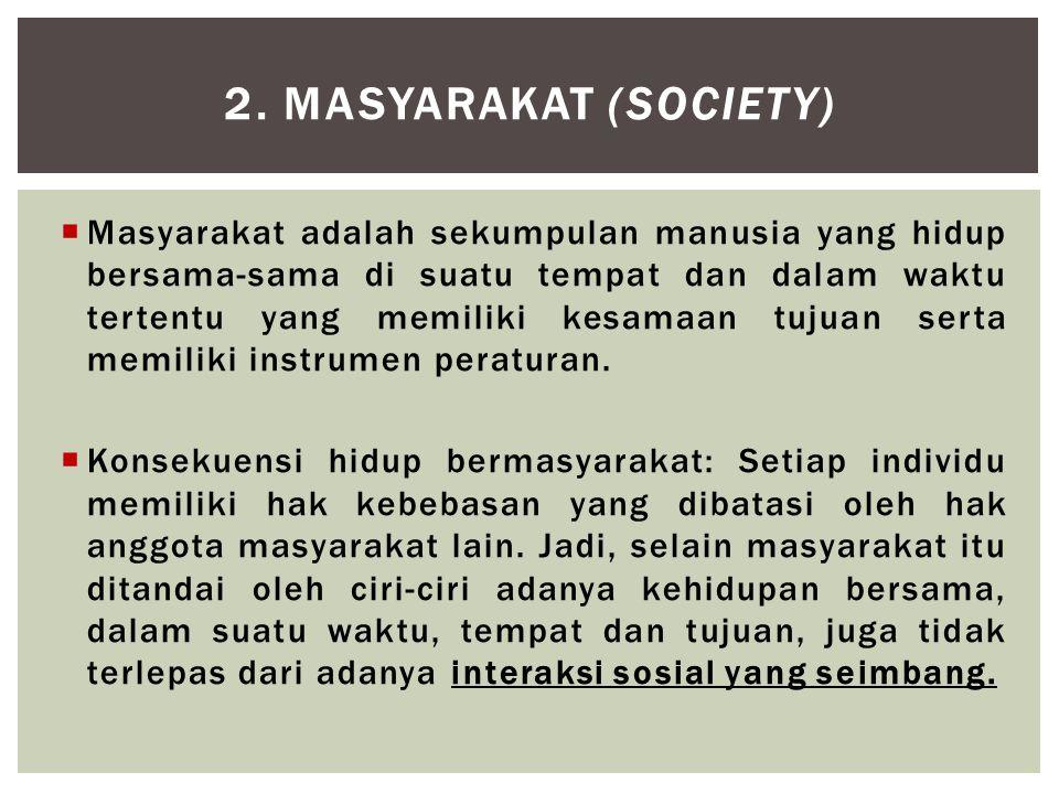 2. Masyarakat (SOCIETY)