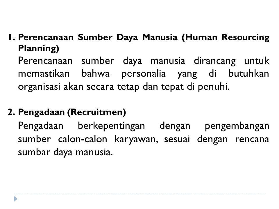 Perencanaan Sumber Daya Manusia (Human Resourcing Planning)