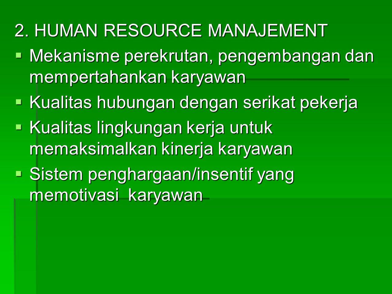 2. HUMAN RESOURCE MANAJEMENT