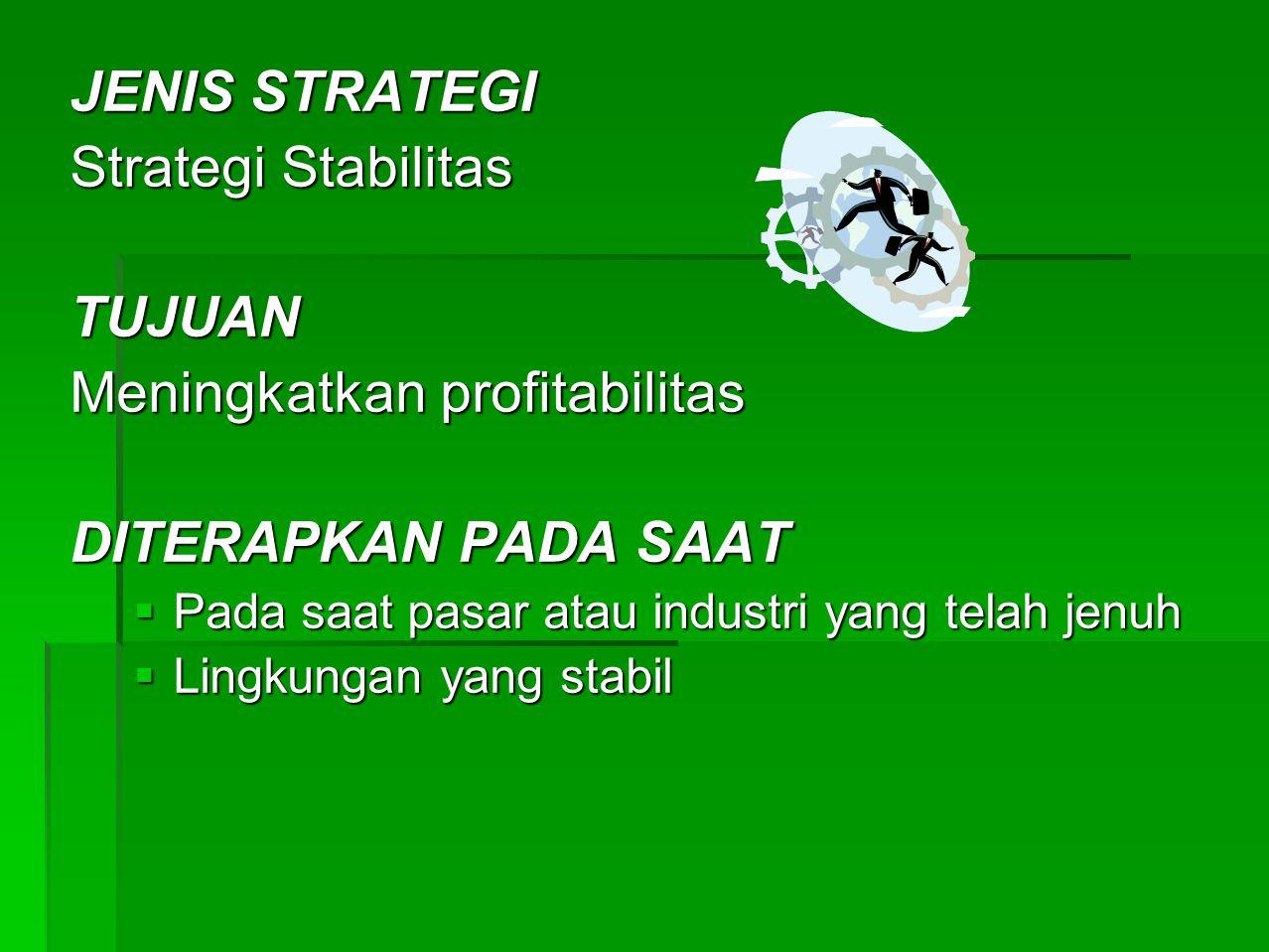 Meningkatkan profitabilitas DITERAPKAN PADA SAAT