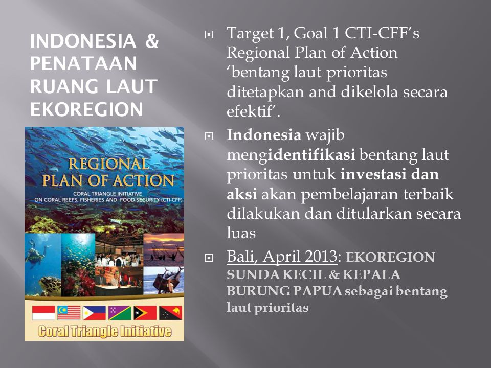 INDONESIA & PENATAAN RUANG LAUT EKOREGION