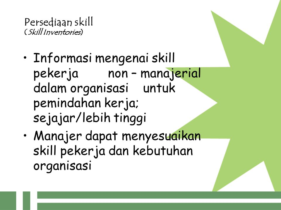 Persediaan skill (Skill Inventories)