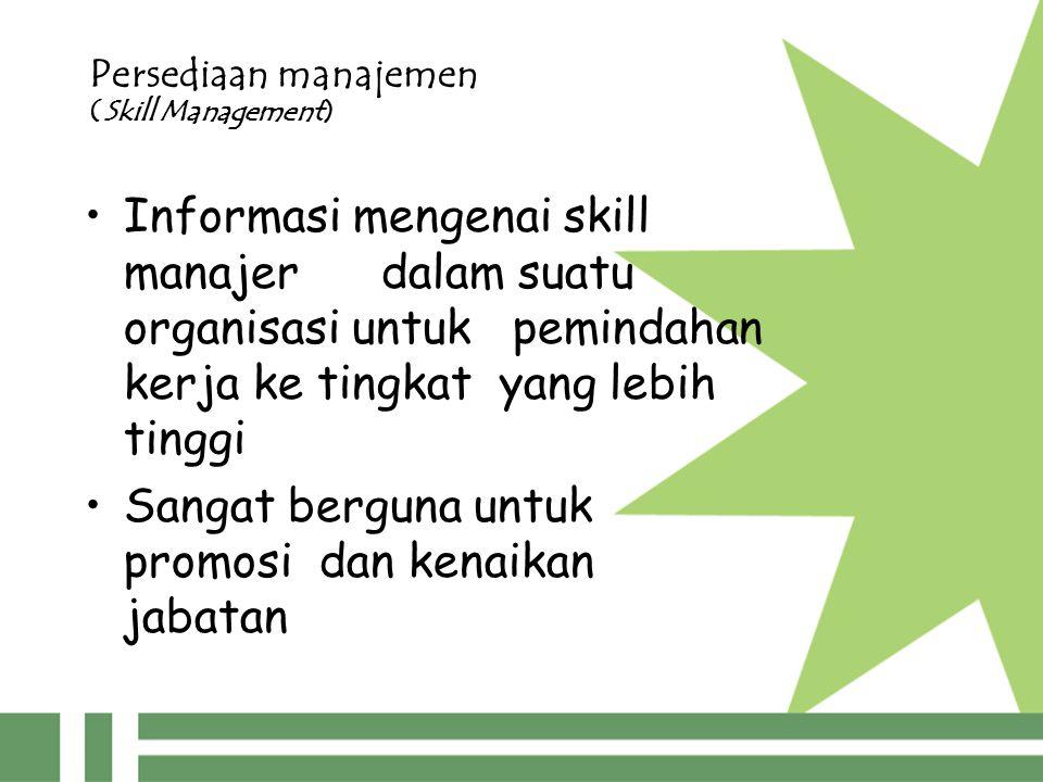 Persediaan manajemen (Skill Management)