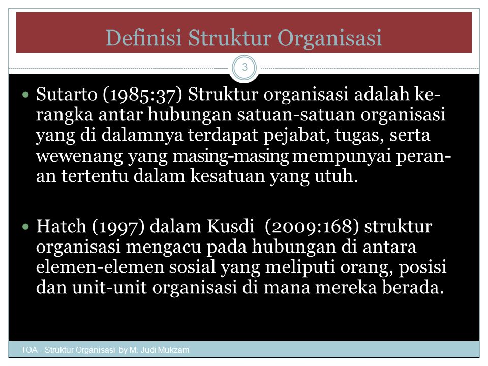 Definisi Struktur Organisasi