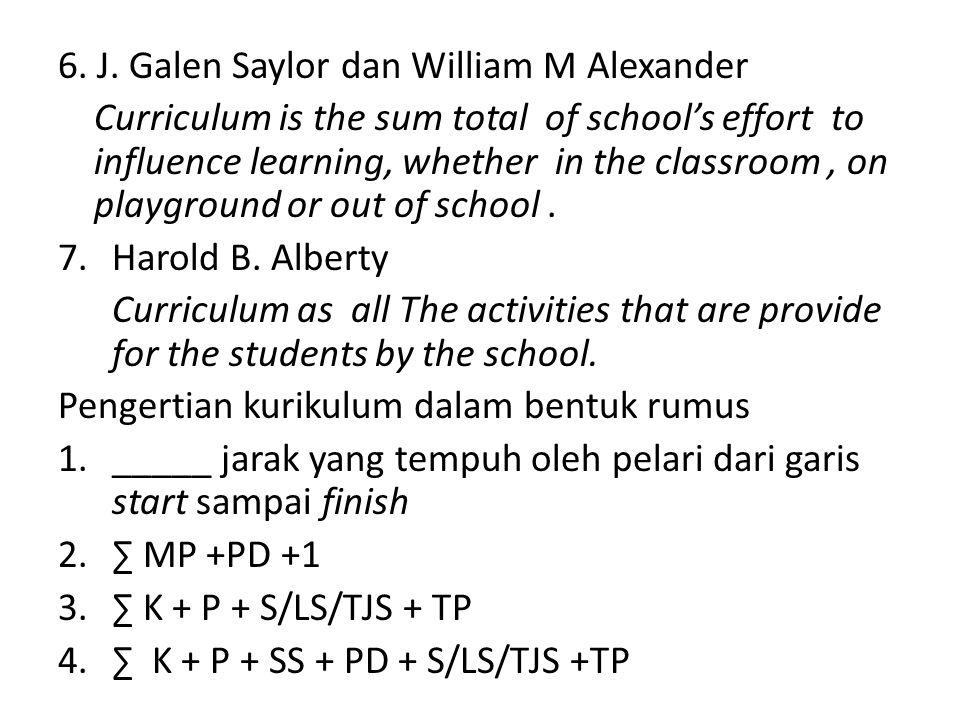 6. J. Galen Saylor dan William M Alexander