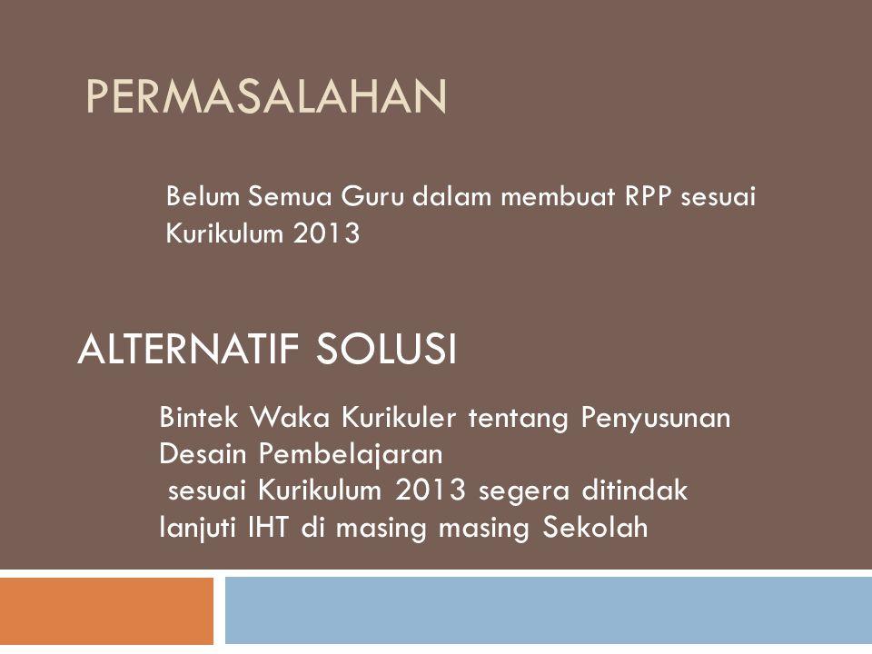 Belum Semua Guru dalam membuat RPP sesuai Kurikulum 2013