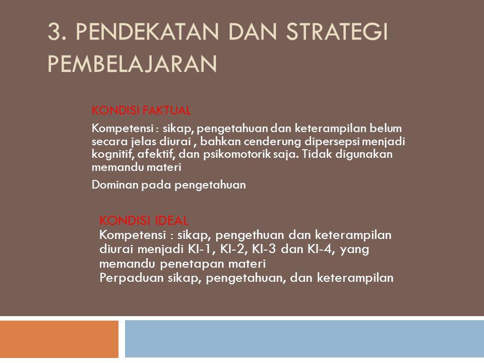 3. Pendekatan dan Strategi Pembelajaran