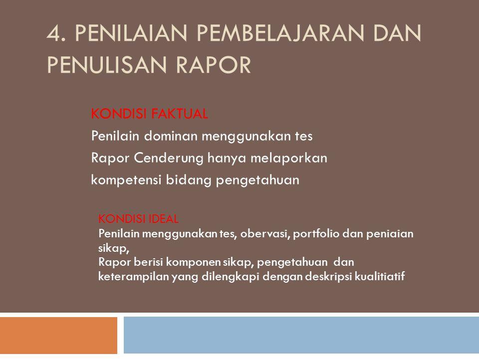 4. Penilaian Pembelajaran dan Penulisan Rapor