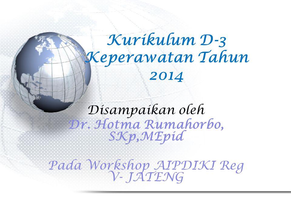 Kurikulum D-3 Keperawatan Tahun 2014