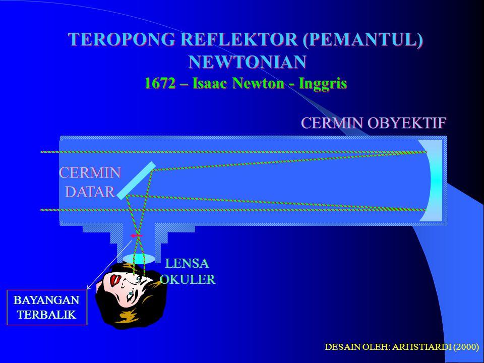 TEROPONG REFLEKTOR (PEMANTUL) 1672 – Isaac Newton - Inggris