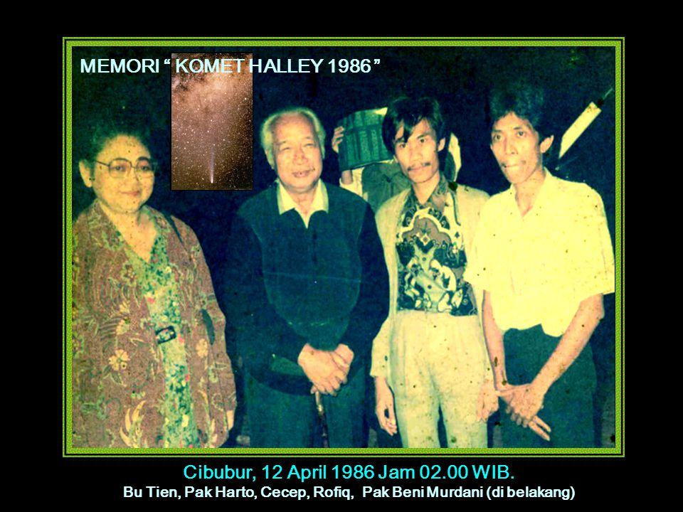 Bu Tien, Pak Harto, Cecep, Rofiq, Pak Beni Murdani (di belakang)