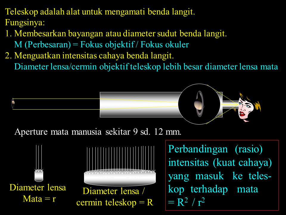 Teleskop adalah alat untuk mengamati benda langit.