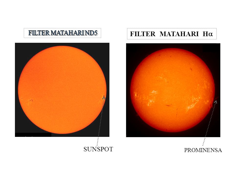 SUNSPOT FILTER MATAHARI ND5 FILTER MATAHARI Ha PROMINENSA