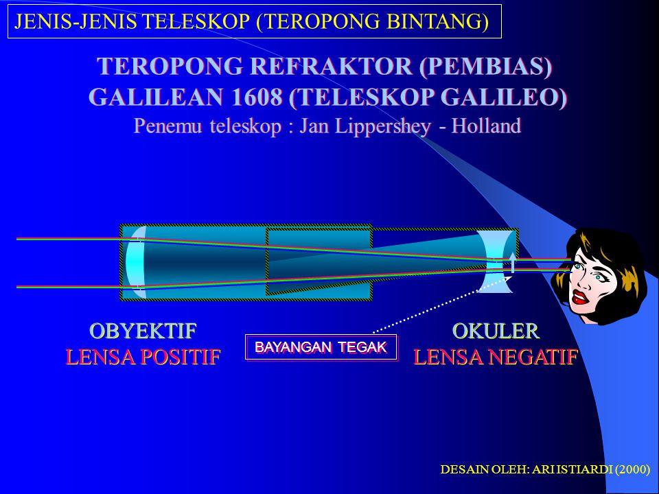TEROPONG REFRAKTOR (PEMBIAS) GALILEAN 1608 (TELESKOP GALILEO)