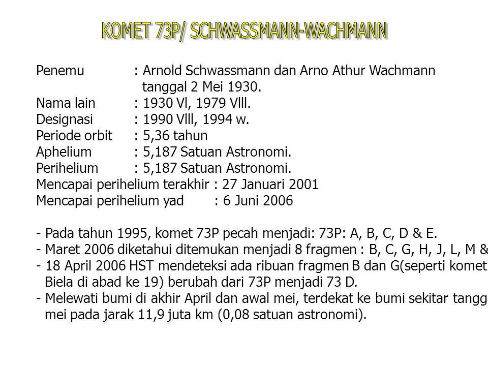 KOMET 73P/ SCHWASSMANN-WACHMANN