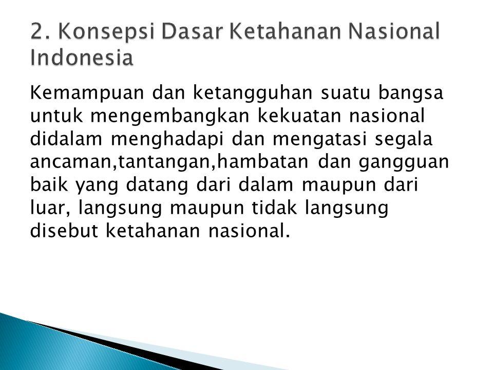 2. Konsepsi Dasar Ketahanan Nasional Indonesia