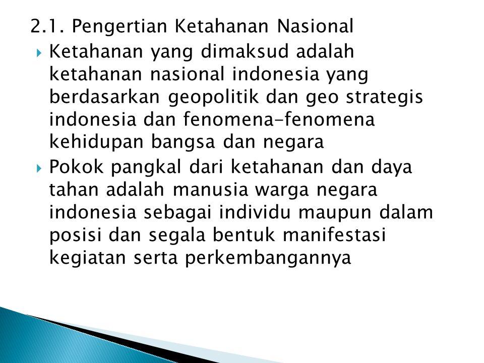 2.1. Pengertian Ketahanan Nasional