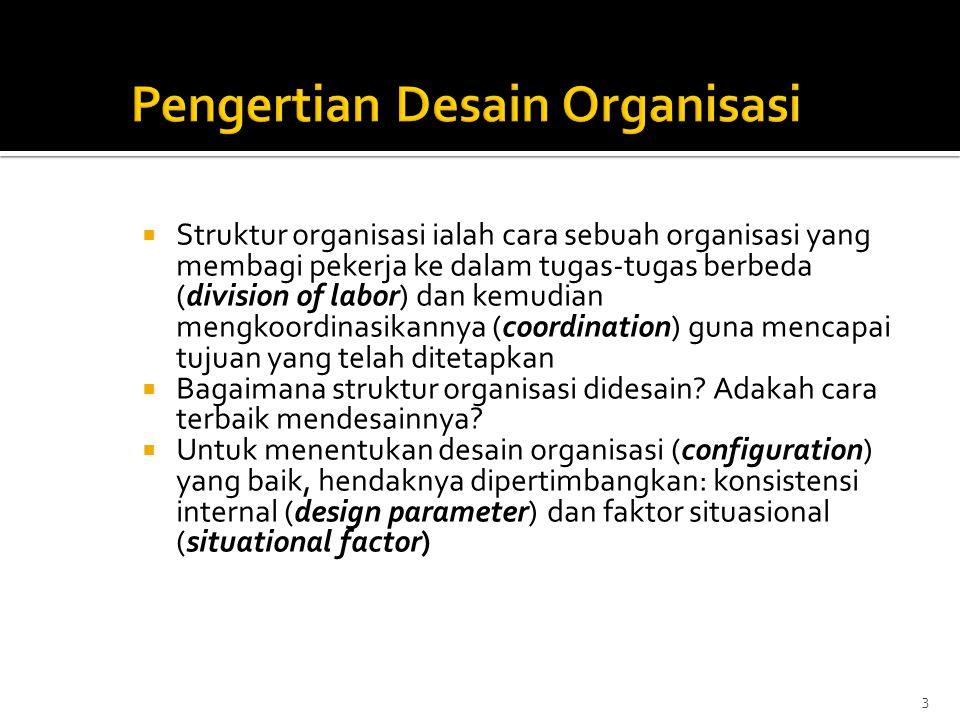 Pengertian Desain Organisasi