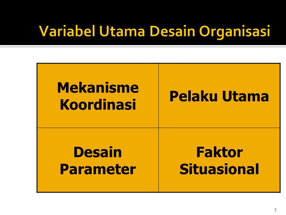 Variabel Utama Desain Organisasi