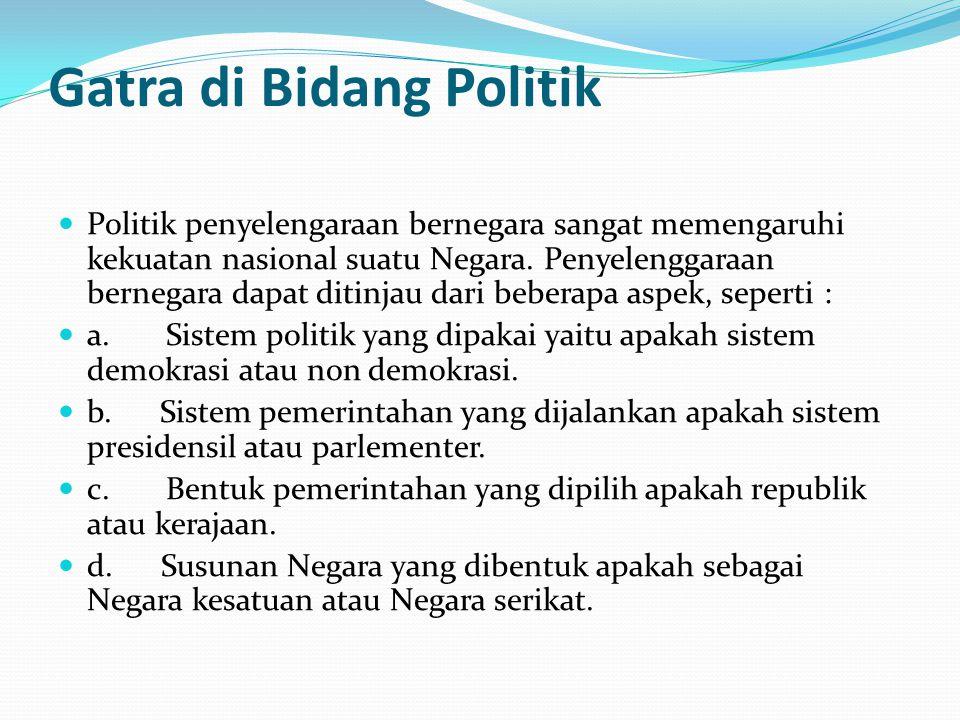 Gatra di Bidang Politik