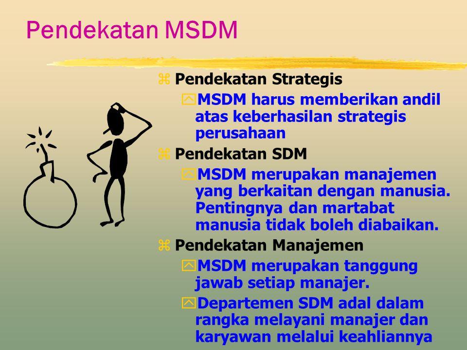 Pendekatan MSDM Pendekatan Strategis