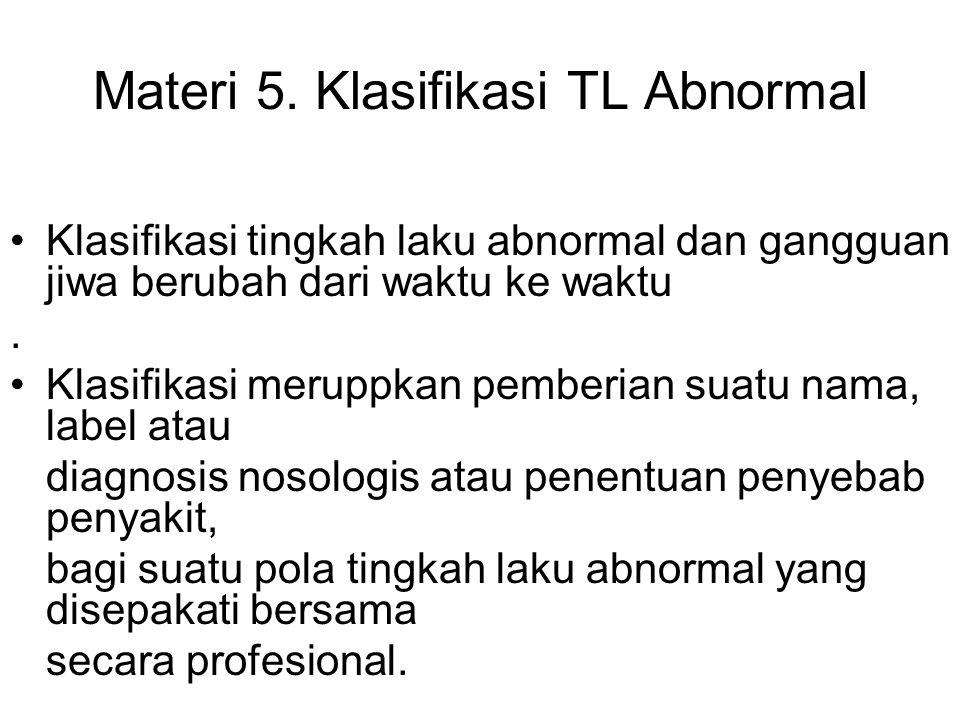 Materi 5. Klasifikasi TL Abnormal