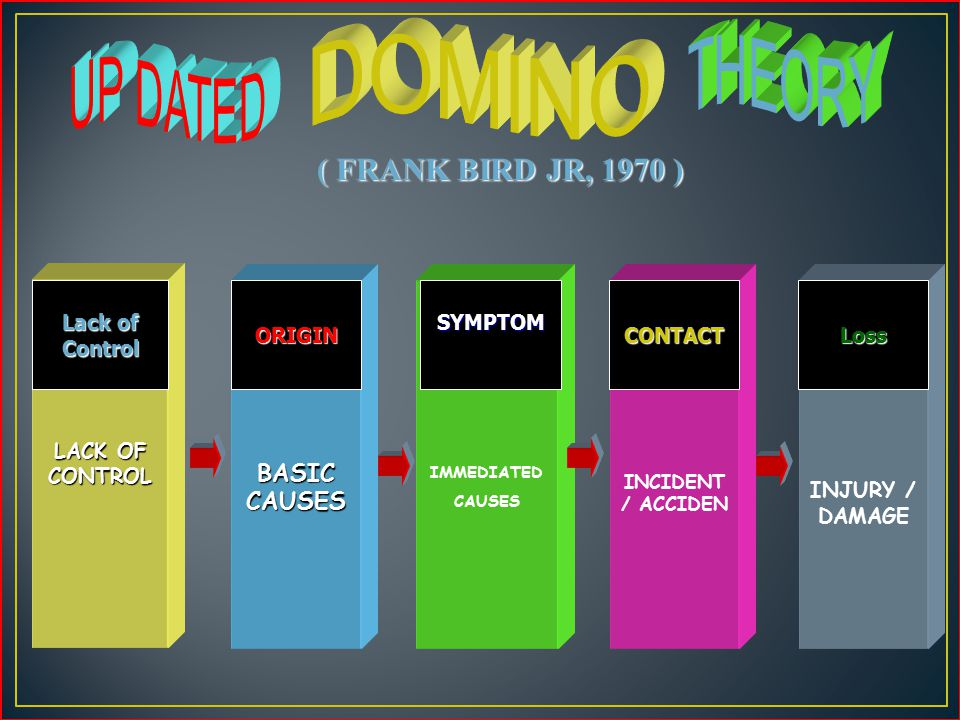DOMINO THEORY UP DATED ( FRANK BIRD JR, 1970 ) BASIC CAUSES