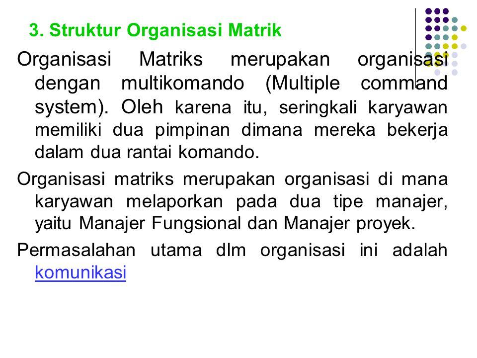 3. Struktur Organisasi Matrik