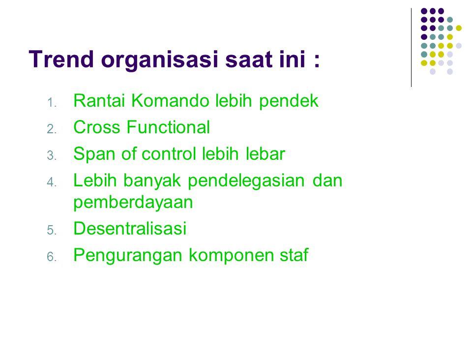 Trend organisasi saat ini :