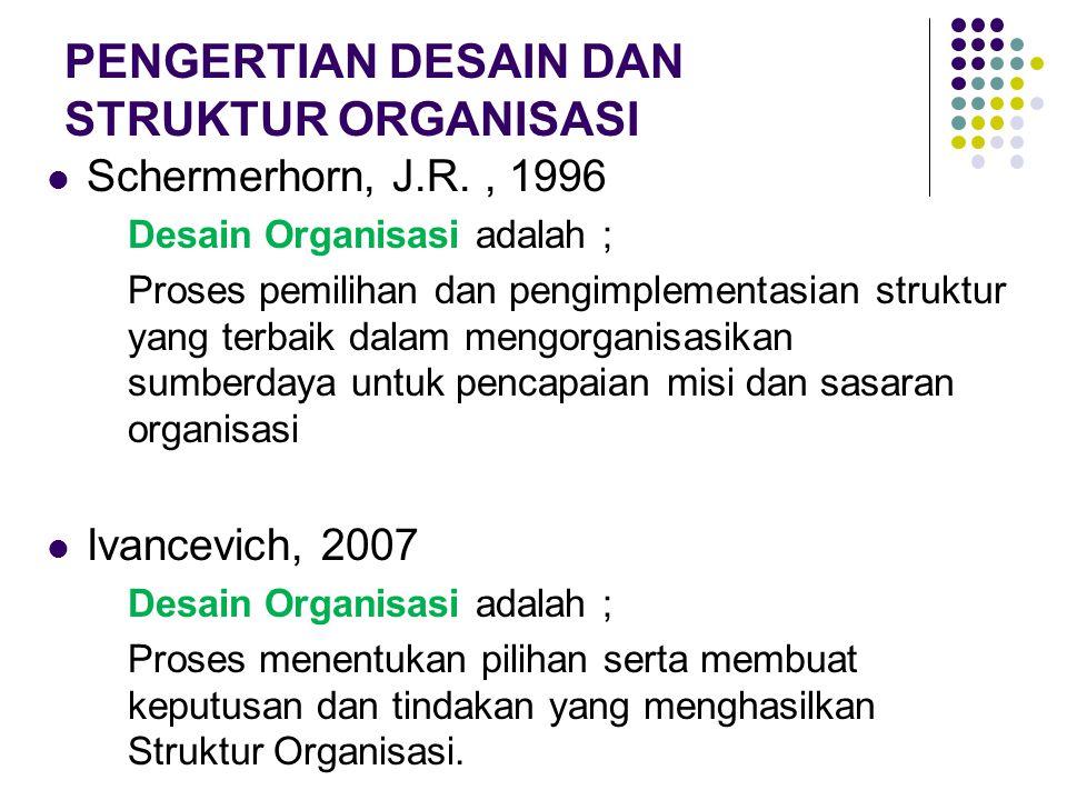 PENGERTIAN DESAIN DAN STRUKTUR ORGANISASI