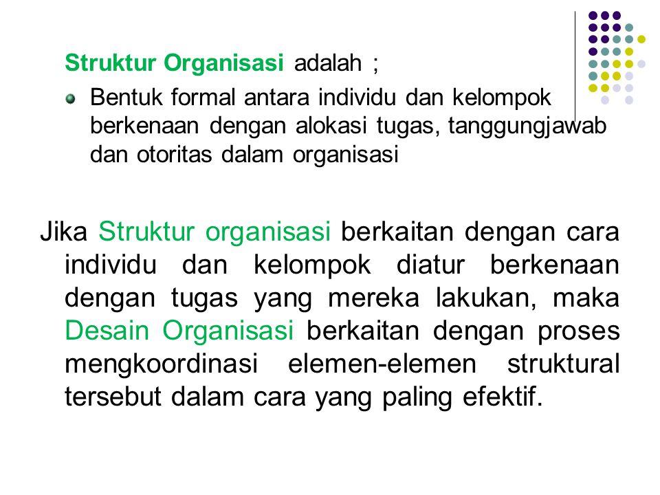 Struktur Organisasi adalah ;