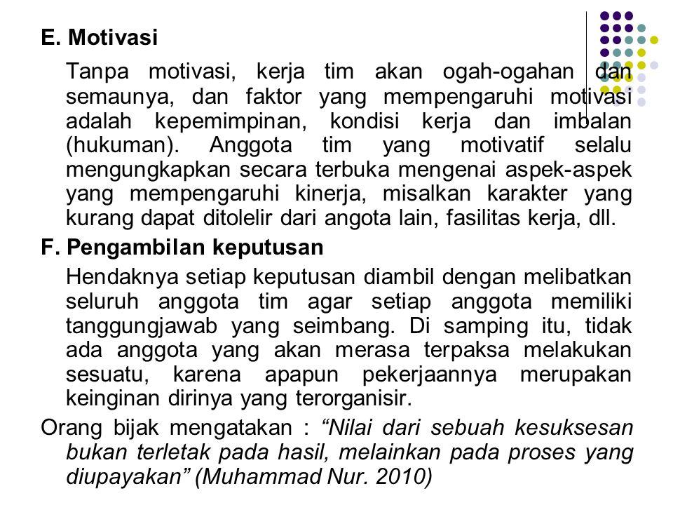 E. Motivasi