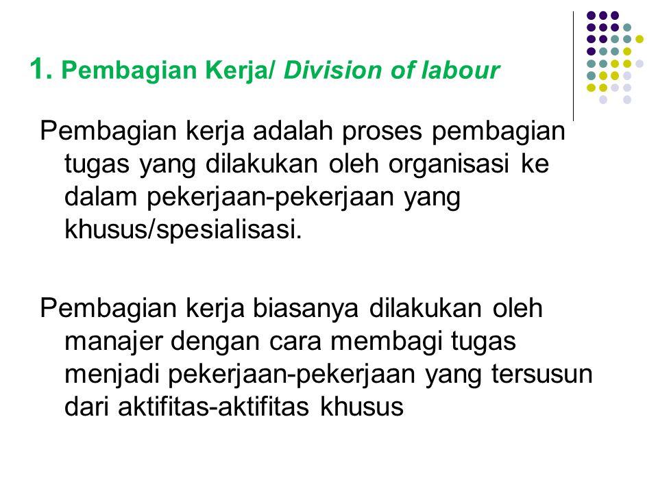 1. Pembagian Kerja/ Division of labour