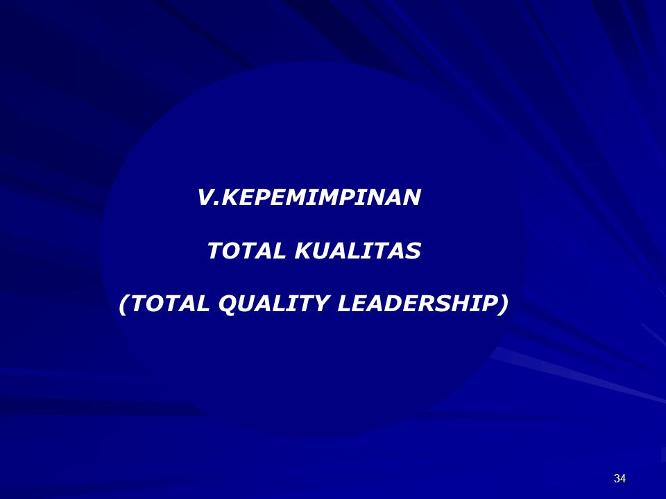(TOTAL QUALITY LEADERSHIP)