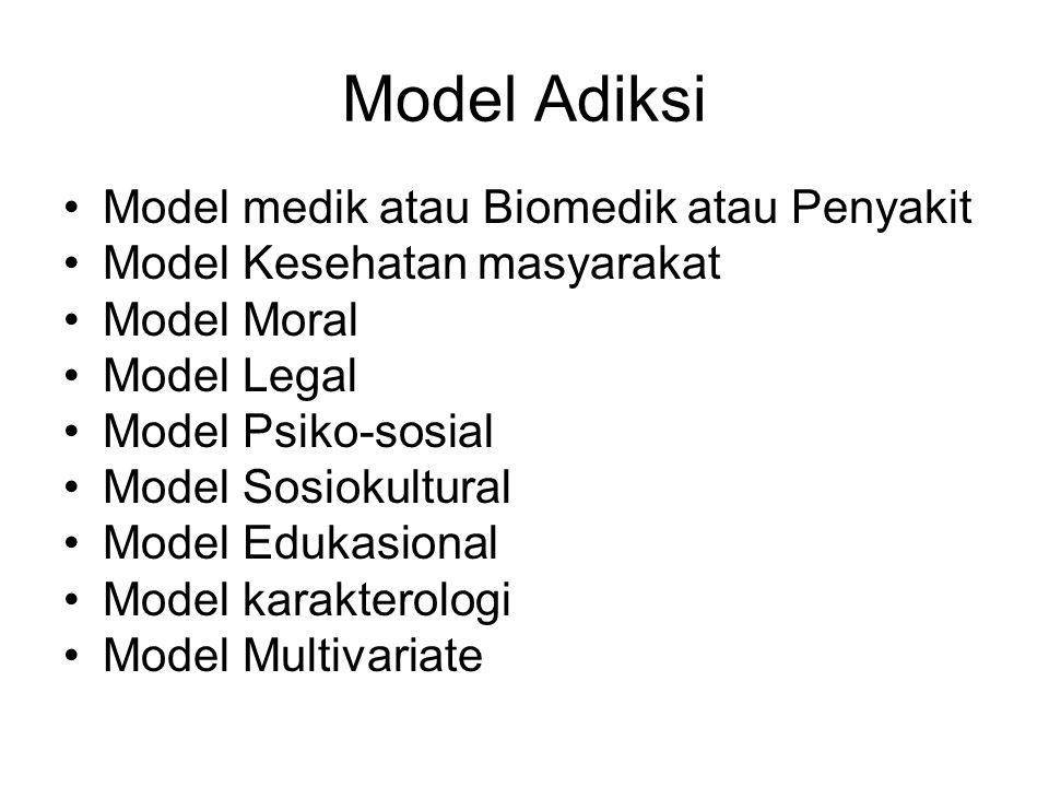 Model Adiksi Model medik atau Biomedik atau Penyakit
