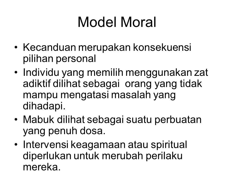 Model Moral Kecanduan merupakan konsekuensi pilihan personal