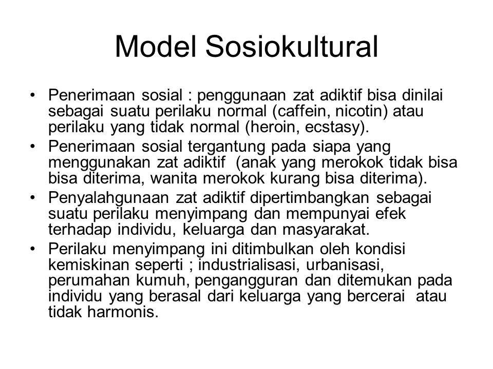 Model Sosiokultural