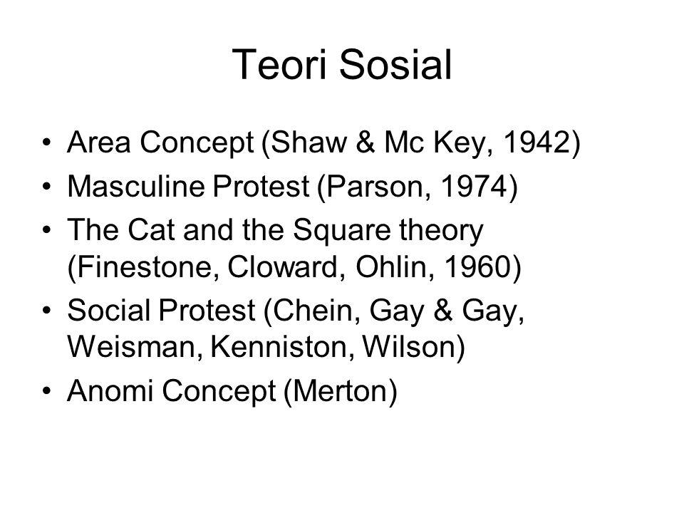 Teori Sosial Area Concept (Shaw & Mc Key, 1942)