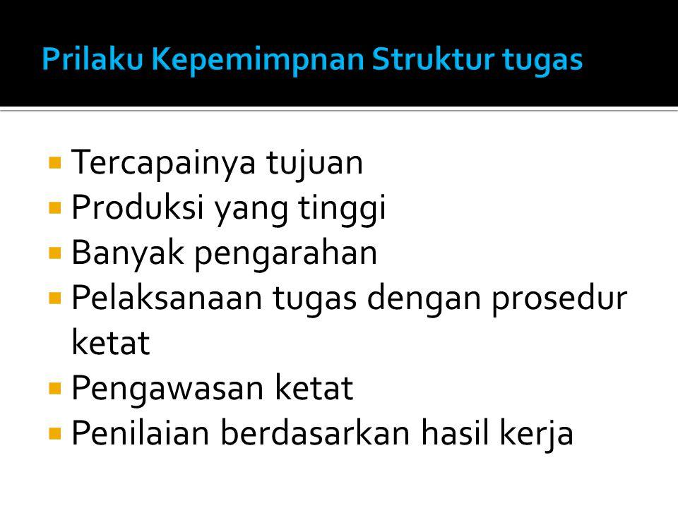 Prilaku Kepemimpnan Struktur tugas