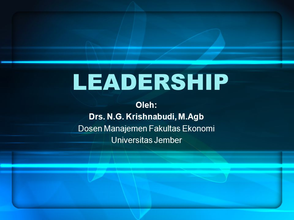 Drs. N.G. Krishnabudi, M.Agb