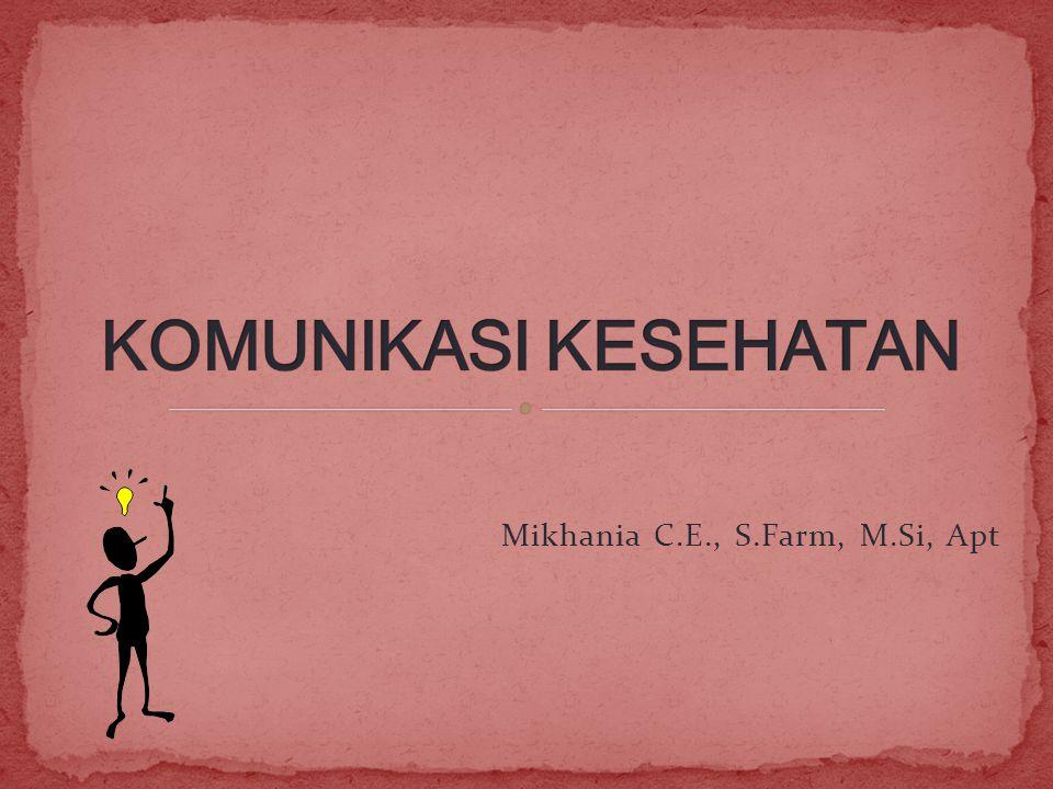 Mikhania C.E., S.Farm, M.Si, Apt