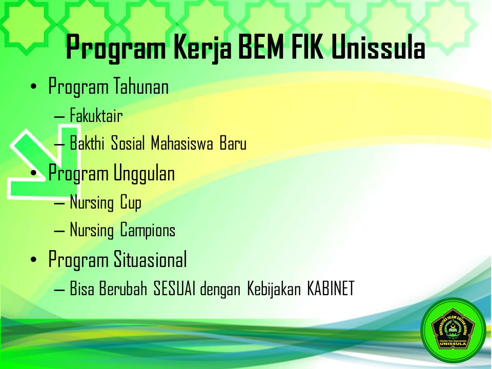 Program Kerja BEM FIK Unissula