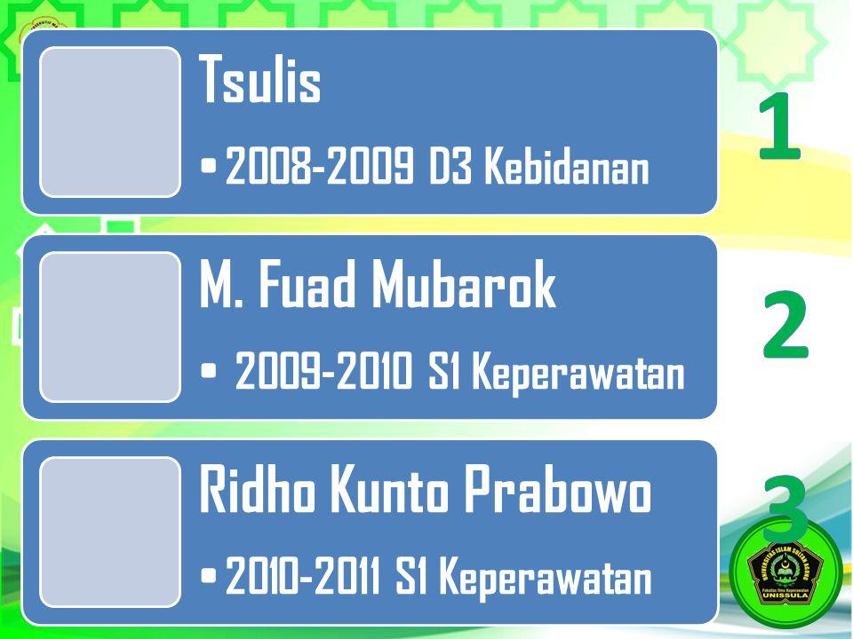1 2 3 Tsulis 2008-2009 D3 Kebidanan M. Fuad Mubarok