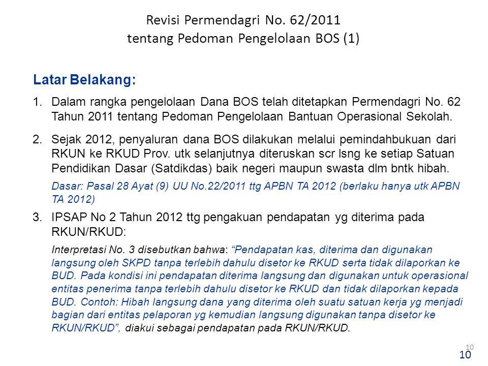 Revisi Permendagri No. 62/2011 tentang Pedoman Pengelolaan BOS (1)