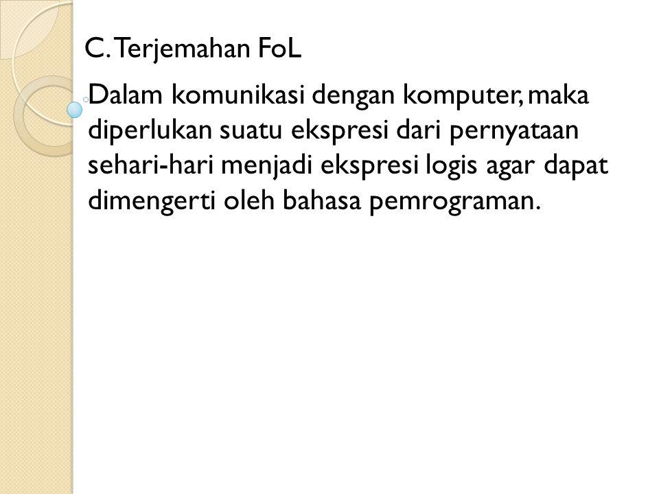 C. Terjemahan FoL