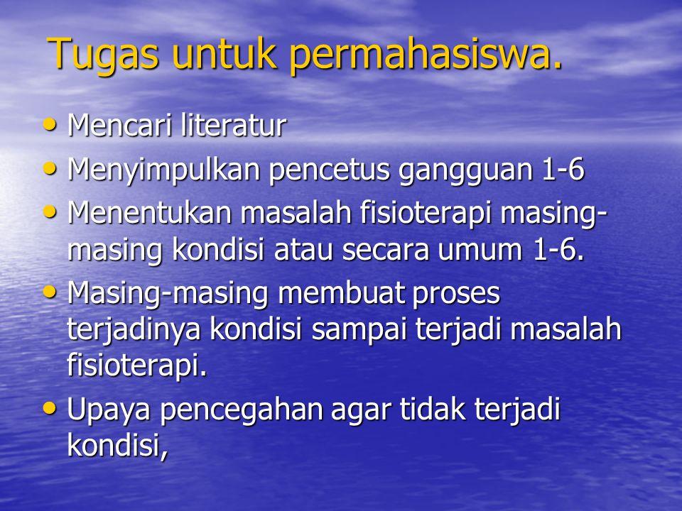 Tugas untuk permahasiswa.