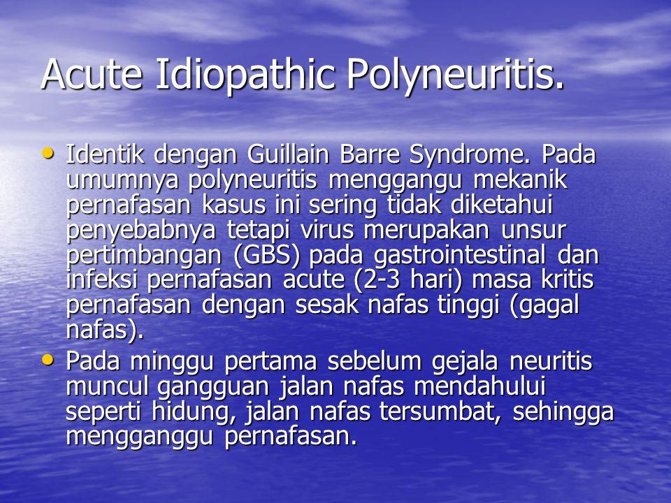 Acute Idiopathic Polyneuritis.