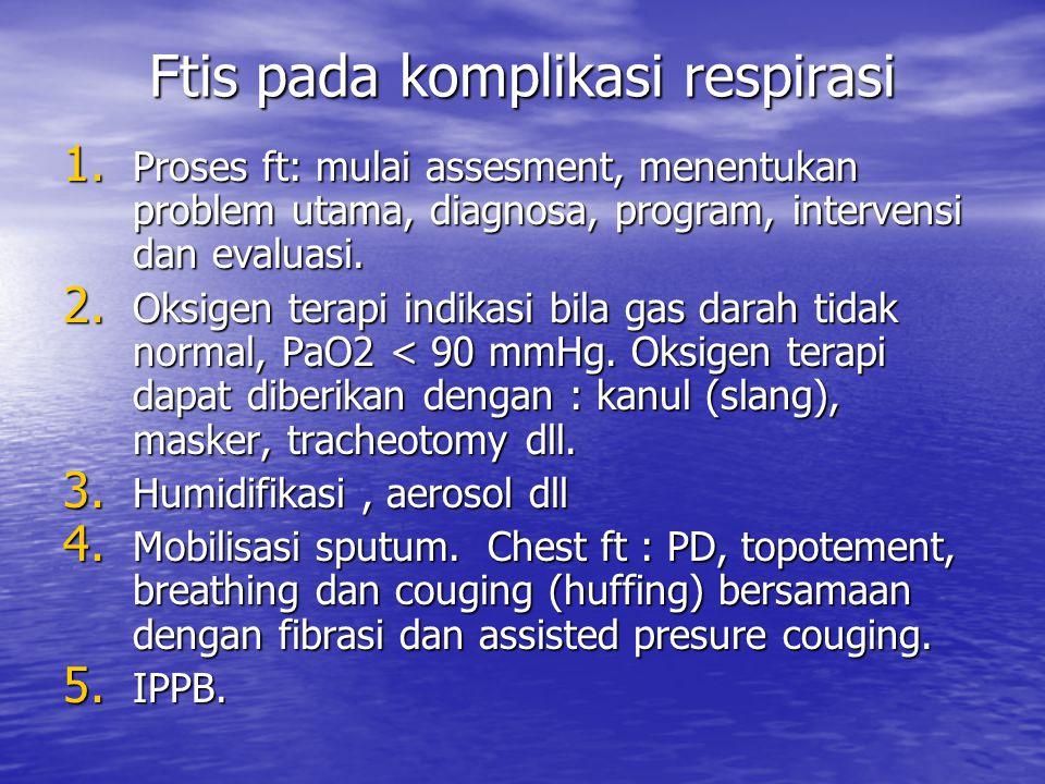 Ftis pada komplikasi respirasi